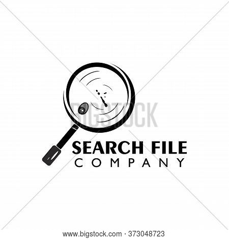 Find File Document, Find Photo Videos, File Search Logo Icon Vector