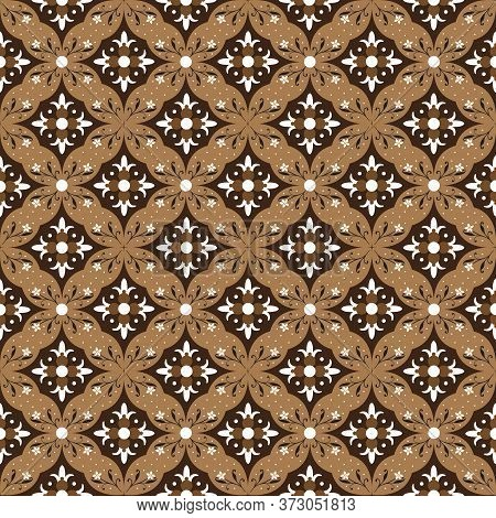 Abstract Pattern On Traditional Parang Batik With Elegant Brown Color Design