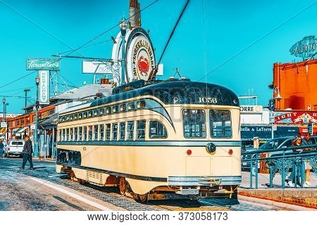 Famous City Trams In San Francisco.