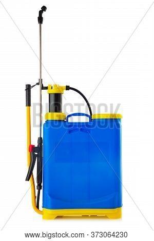 Knapsack Sprayer. Backpack Manual Sprayer Machine Isolated