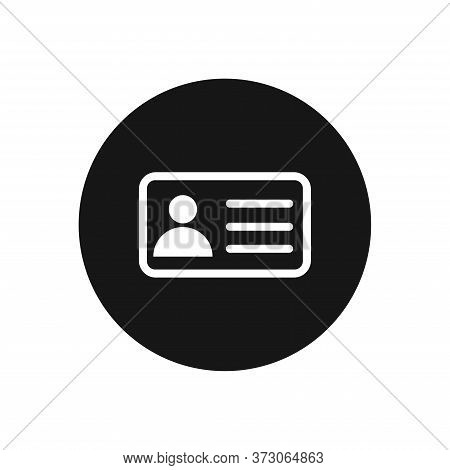 Id Card Icon Isolated On White Background. Id Card Icon In Trendy Design Style For Web Site And Mobi