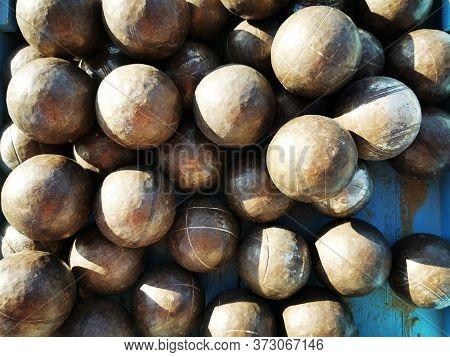 Petanque Balls Texture As Very Nice Background