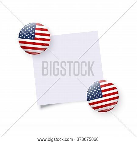 Fridge Load Stones Holding Empty Sticker. Original Usa Round Magnet, Badge, Circle Button Template I