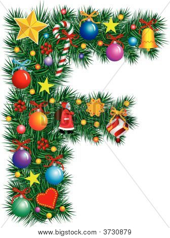 Alphabet Letter F - Christmas Decoration