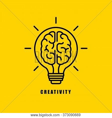 Creative Idea Thinking Outstanding, Inspiration, Brainstorm And Imagination Development. Light Bulb