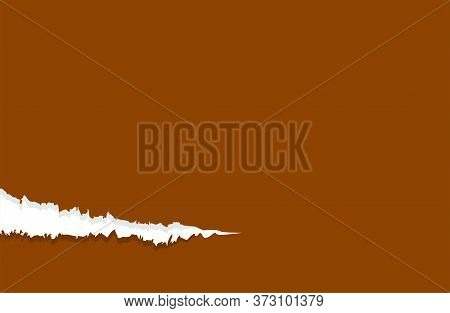 Paper Brown With Tear Marks, Paper Rip Torn Brown For Background, Paper With Edge Tear