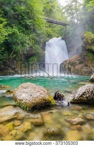 Sum waterfall in Triglav natural park, Slovenia