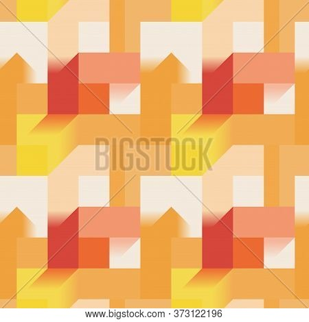 Abstract Rectangular Seamless Pattern With Geometric Shapes And Shades