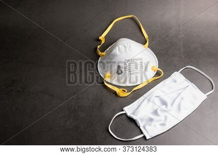 Surgical Face Mask. Coronavirus Concept. Medical Face Mask For Stopping The Spread Of Flu Virus. Sur