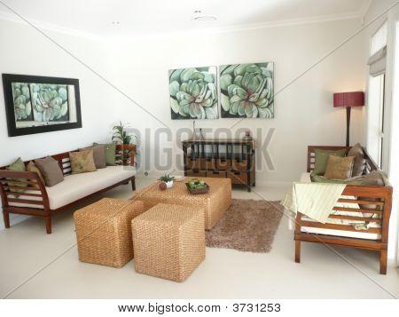 Interior Of Modern Home Model.