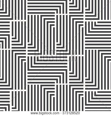 Geometric Vector Pattern, Repeating Stripe Line On Square Shape. Pattern Clean For Wallpaper, Printi