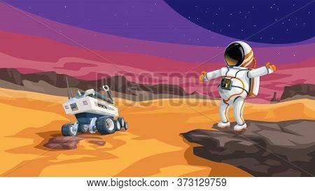 Image Of Deep Space Exploration By Humans