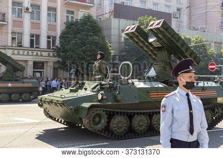 Donetsk, Donetsk People Republic, Ukraine - June 24, 2020: The Strela Anti-aircraft Missile Systems