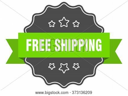Free Shipping Isolated Seal. Free Shipping Green Label. Free Shipping