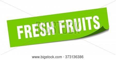 Fresh Fruits Sticker. Fresh Fruits Square Sign. Fresh Fruits. Peeler