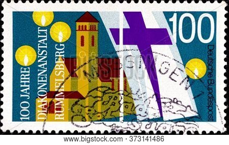 02 08 2020 Divnoe Stavropol Krai Russia The Postage Stamp Germany 1990 The 100th Anniversary Of The
