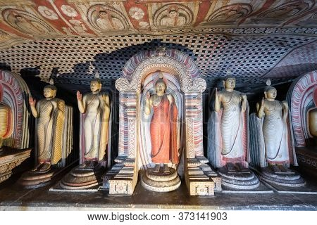 Sri Lanka Dambulla Royal Cave And Golden Temple Unesco World Heritage Sites Famous Place For Tourist