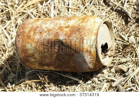 Old Rusty Can Of Soft Drink