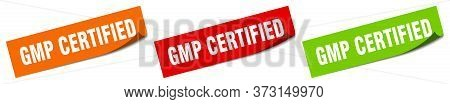 Gmp Certified Sticker. Gmp Certified Square Isolated Sign. Gmp Certified Label