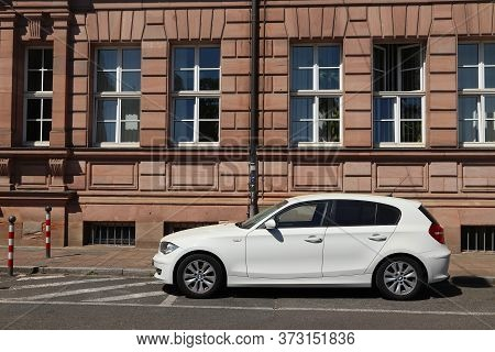 Nuremberg, Germany - May 7, 2018: Bmw 1 Series Compact Car Parked In Germany. There Were 45.8 Millio