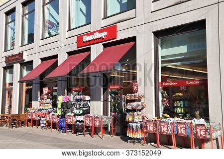 Chemnitz, Germany - May 8, 2018: Euroshop Discount Store In Chemnitz, Germany. Total Retail Sales In