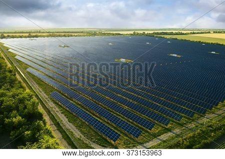 Solar Panels Installed Outdoors. Alternative Energy Source