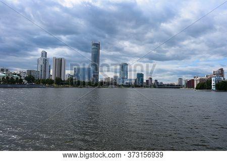 Yekaterinsburg, Sverdlovsk Region/russia - 06.23.2020: View On The Downtown Of Yekaterinsburg City.
