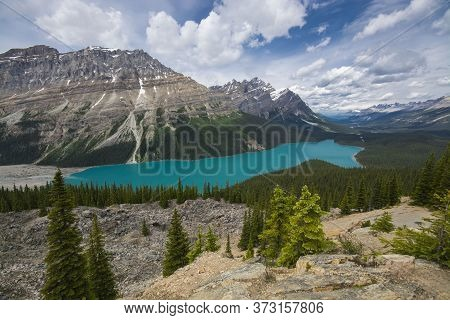 Lake Peyto, Near The Icefields Parkway, In Alberta, Canada