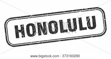 Honolulu Stamp. Honolulu Black Grunge Isolated Sign