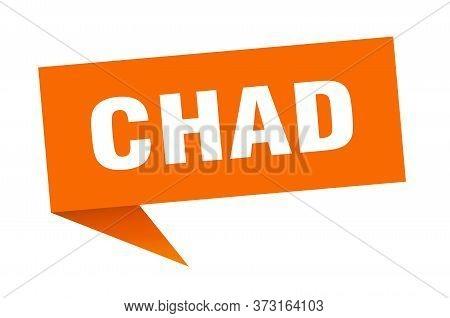 Chad Sticker. Orange Chad Signpost Pointer Sign