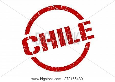 Chile Stamp. Chile Grunge Round Isolated Sign