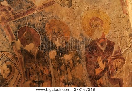 Demre, Turkey  Frescos In The Saint Nicholas (santa Clause) Church  In Demre, Turkey. It's An Ancien