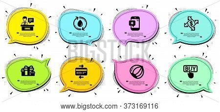 Holiday Presents, Exhibitors And Credit Card Signs. Chat Bubbles With Quotes. Weather Phone, Refill