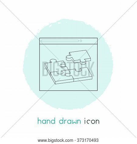 Related Content Icon Line Element. Vector Illustration Of Related Content Icon Line Isolated On Clea