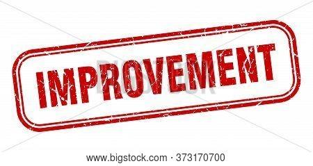 Improvement Stamp. Improvement Square Grunge Red Sign
