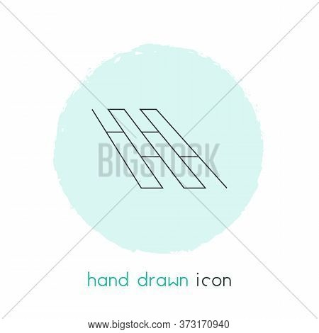 Flooring Icon Line Element. Vector Illustration Of Flooring Icon Line Isolated On Clean Background F