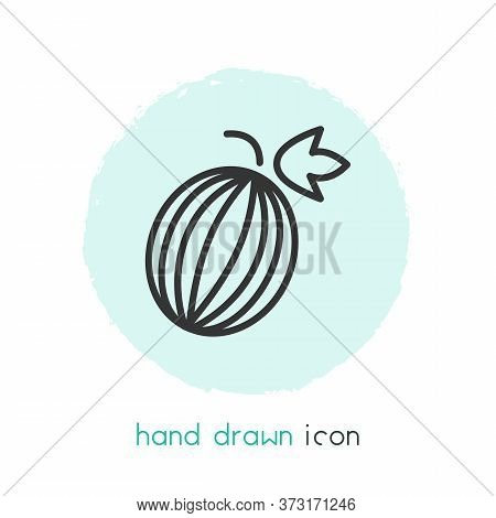 Gooseberry Icon Line Element. Vector Illustration Of Gooseberry Icon Line Isolated On Clean Backgrou
