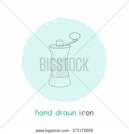 Pepper Mill Icon Line Element. Illustration Of Pepper Mill Icon Line Isolated On Clean Background Fo