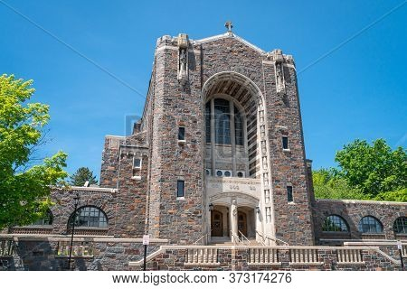 Our Lady Queen Of Peace Chapel And College Library On The Campus Of The College Of St. Scholastica