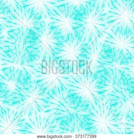 Abstract Springtime Colorful Aqua Menthe Flower Seamless Pattern Background, Dandelion. Seamless Pat