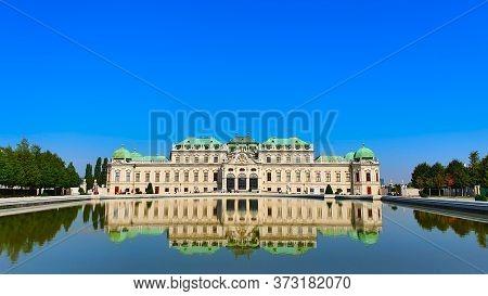 Vienna, Austria - September 2019. Upper Belvedere Palace, . Austrian Baroque Architecture. Travellin