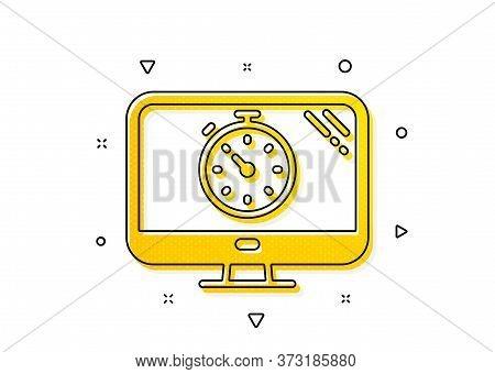 Search Engine Optimization Sign. Seo Timer Icon. Analytics Symbol. Yellow Circles Pattern. Classic S