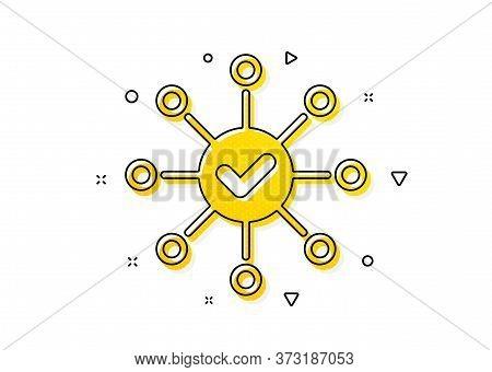 Correct Answer Sign. Survey Check Icon. Yellow Circles Pattern. Classic Survey Check Icon. Geometric