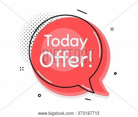 Today Offer Symbol. Thought Chat Bubble. Special Sale Price Sign. Advertising Discounts Symbol. Spee