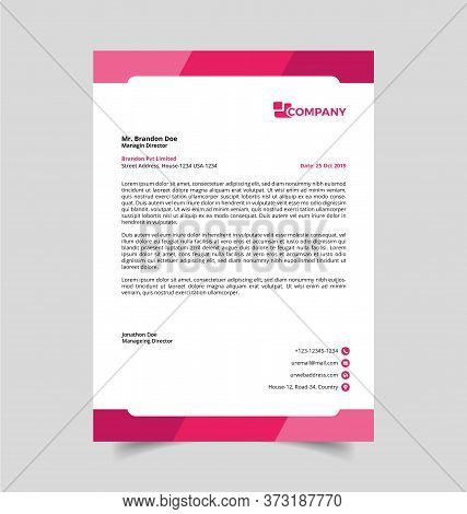 Professional Letterhead Template. Best Quality And Creative Template. This Template Download Contain