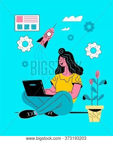 Startup And Entrepreneurs Business Initiative Concept Vector Illustration.
