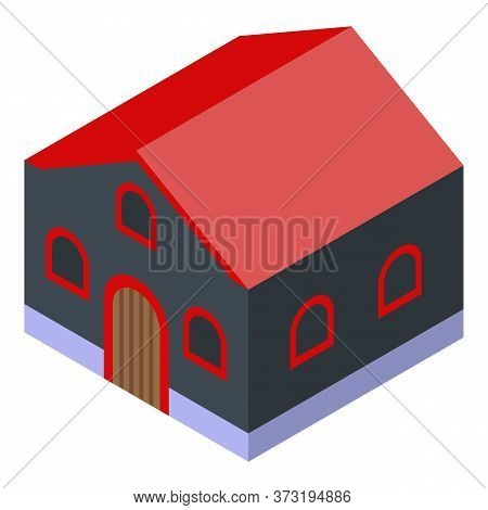 Winemaker House Icon. Isometric Of Winemaker House Vector Icon For Web Design Isolated On White Back
