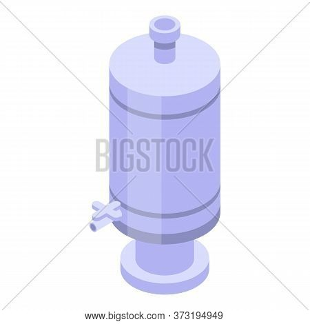Steel Wine Tank Icon. Isometric Of Steel Wine Tank Vector Icon For Web Design Isolated On White Back