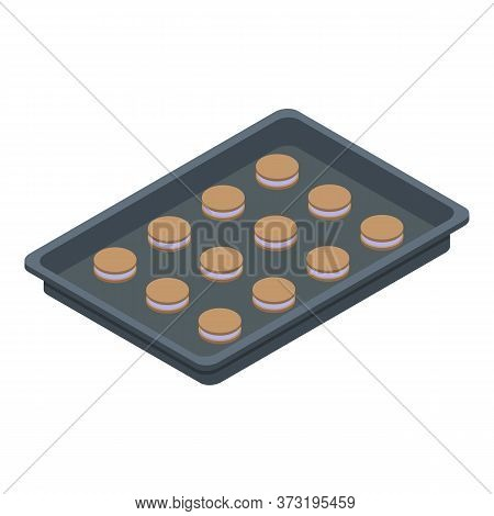 Confectioner Cookie Tray Icon. Isometric Of Confectioner Cookie Tray Vector Icon For Web Design Isol