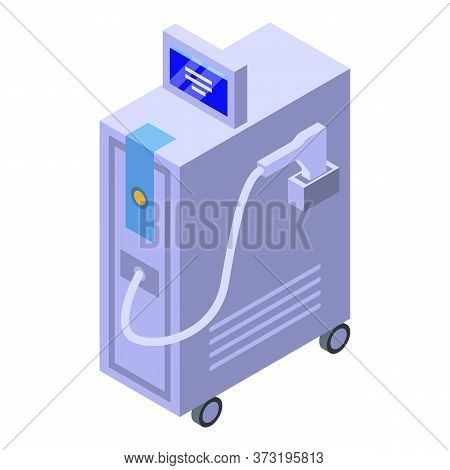 Laser Hair Removal Equipment Icon. Isometric Of Laser Hair Removal Equipment Vector Icon For Web Des